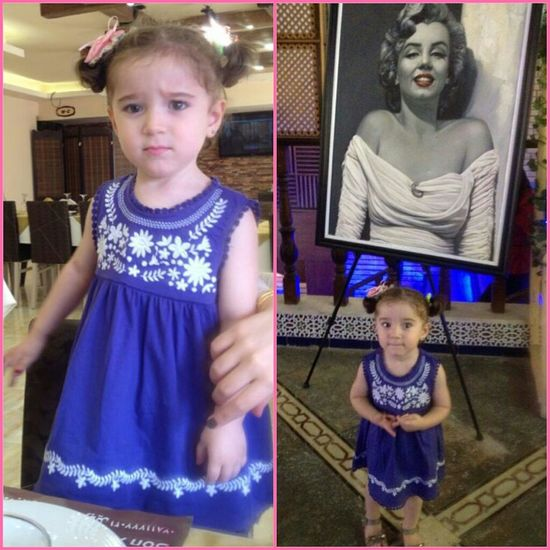 بنت اختي ميرنا Hi! my Pretty Little Girl Two Years Old ^__^ with Marlin Monroe hahaha