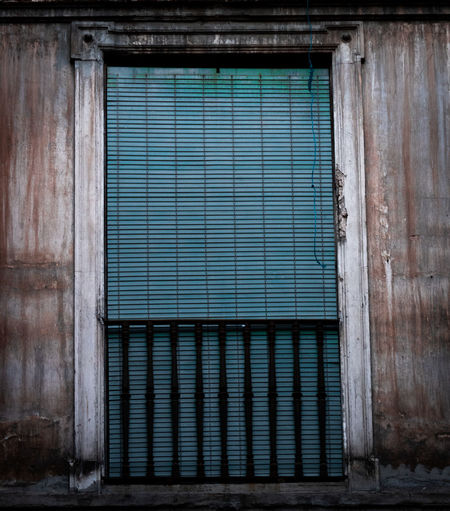 Architecture Closed Building Built Structure Metal Door Building Exterior Entrance Safety No People Security Corrugated Iron Shutter Protection Day Wall - Building Feature Iron Window Corrugated Blue Outdoors Garage Steel