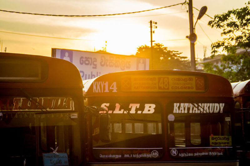 It's About The Journey Mode Of Transportation Public Transportation Transportation Sunset Sky Land Vehicle Bus Sunlight Outdoors City Local Sri Lanka Local Bus Old Bus Traffic