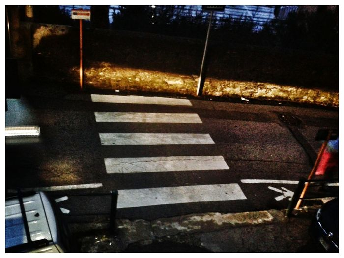 if you must run and crash your head to the wall come here! It is safe :))) Smartphone Photography S3 Mini Mobilephotography City Road Striped Street Road Marking Zebra Crossing Crosswalk Pedestrian Crossing Sign Pedestrian Sign Pedestrian Crossing Sign Crossing Road Signal