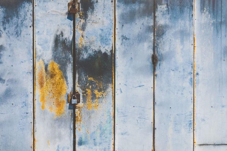 Full frame shot of rusty door