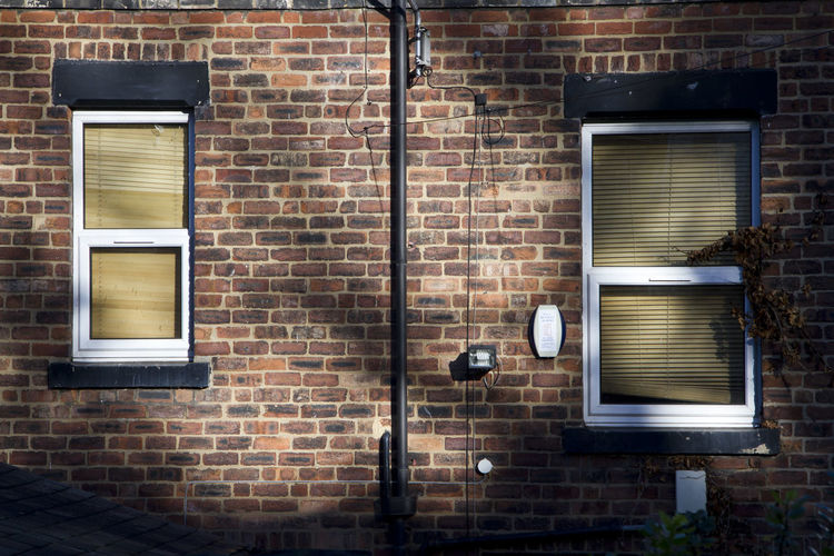Architecture Blinds Bricks Exterior House Leeds Old Pipe Terraced Houses Uk Wall Wall - Building Feature Window Windows