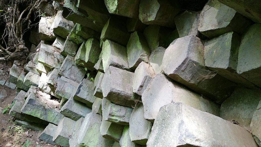 Full Frame Backgrounds Indoors  No People Close-up Day Basaltic Rock Basalt Columns Gangolfsberg