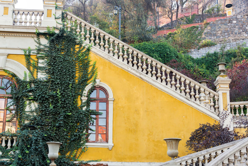 Yellow staircase in Santa Lucia park in Santiago, Chile Architecture Built Structure Chile City Cityscape Hill Park Rail Railing Santa Lucia Park Santa Lucía Santiago Santiago De Chile South America Staircase Stairs Tourism Travel Travel Destinations Urban Yellow