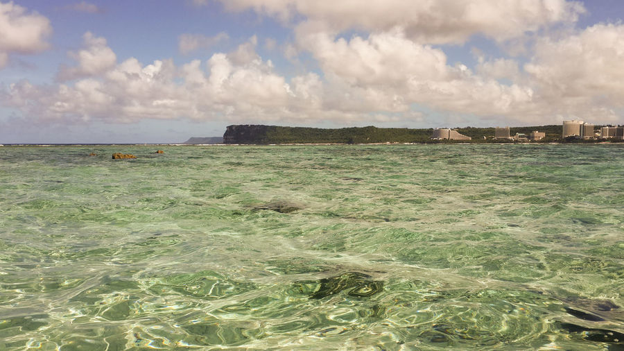 Northern Mariana Islands Northern Marianas Islands Architecture Beach Beauty In Nature Cloud - Sky Day Guam Horizon Land Motion Nature No People Outdoors Rock Scenics - Nature Sea Sky Tranquil Scene Tranquility Water Waterfront