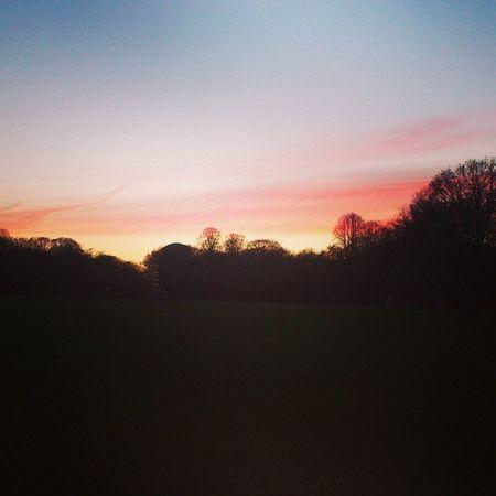 Die Sonne geht unter alle sind erfroren jetzt kanns weiter auf den Kiez gehen Stadtpark Hamburg