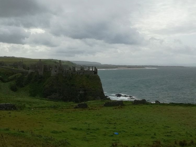 Cloud - Sky Sea Nature Water Beauty In Nature Outdoors Horizon Over Water Sky Storm Cloud Day Großbritannien Großbritannien No People Cliffs DunluceCastle Ireland Ireland🍀 Your Ticket To Europe EyeEmNewHere Lost In The Landscape Connected By Travel