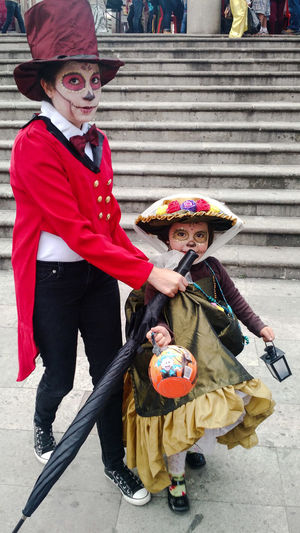 Child Day Of The Dead Disfraz Halloween Hat Mexico People Toluca