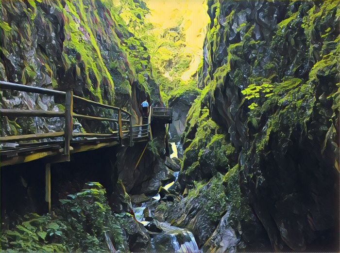 Hiking River Nature Canyon
