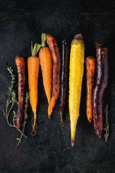 Black Backround Dark Dinner Time Herbs Baked Carrots Carrot Carrots Colorful Vegetables Colors Of Food Different Directly Above Food Grilled Grilled Vegetables Healthy Eating Healthy Food Root Vegetable Top View Of Food Variety Vegan Food Vegetables Veggies Yellow Carrots