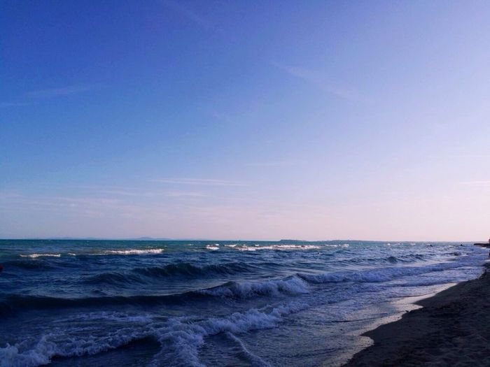 Beauty In Nature Beach Bolgaria EyeEm Gallery Water Sea Blue Nature Sky Skyandsea No People Clear Sky Day EyeEm Nature Taking Photos Popular Photos Eye4photography  Is Horizon Over Water Scenics Wave Tranquil Scene Tranquility Outdoors Sand Vacations