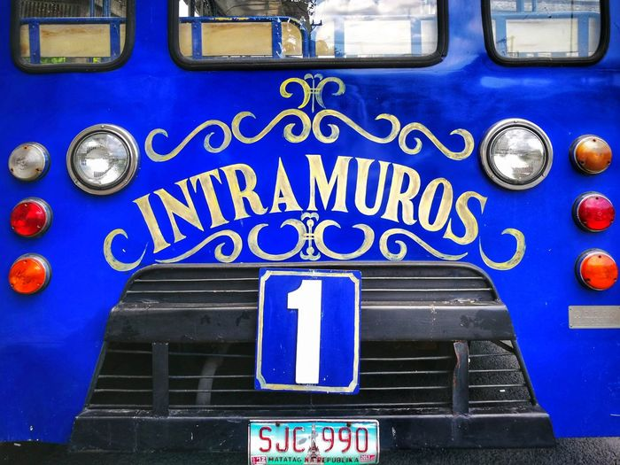Old Trolley Intramuros Number One Manila Number One Attaction Deep Blue Intramuros Old Transport Rourist Sight Trolled