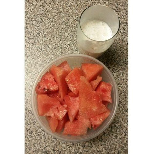 Breakfast Banana Milkshake Watermelon delicious yummy sweet healthy good tasty