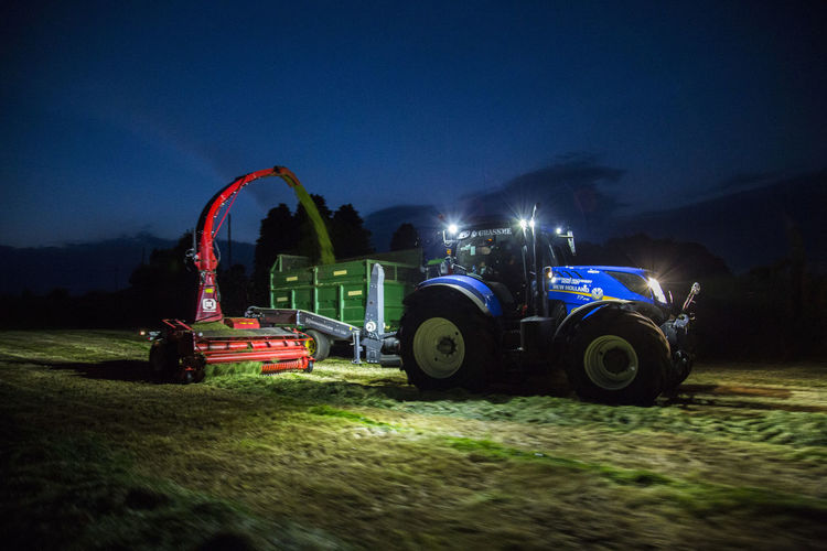 Agriculture Blue Wave Cute Driving Farming Grass Grassman Harvest Harvest Moon Harvesting Illuminated Ireland Lights Love Mode Of Transport New Holland Night Night Lights Nightlife Nightphotography Rural Scene Silhouette Tractor Transportation Work
