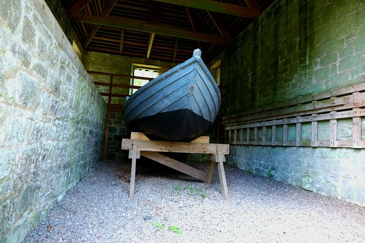 Boat Architecture X-M1 Cragside National Trust Northumberland Boat Blue