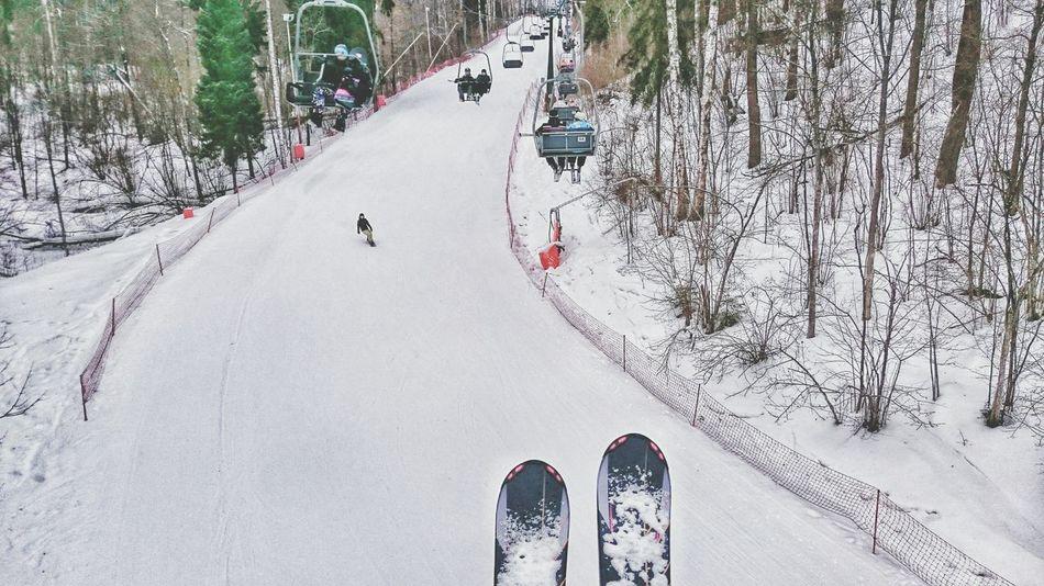 Степаново лыжи Winter Skiing утреннее катание - самое то!))) ??