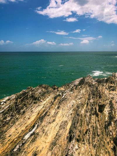 On the top of Turtle Rock Trinidad And Tobago Rock Formation Sea Water Sky Beach Horizon Over Water Horizon Beauty In Nature Land Scenics - Nature Tranquility Tranquil Scene Nature Cloud - Sky No People Sunlight Idyllic Blue Outdoors Day