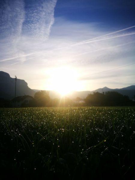 Tranquil Scene No People Sunrise Savoie