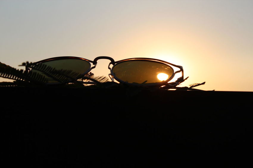 Shades Day No People Outdoors Silhouette Sky Sunglasses Sunset