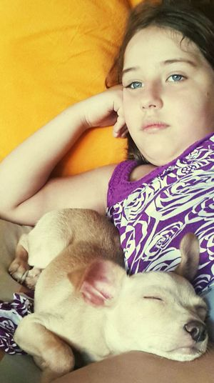 Girl and dog Close-up Animal Themes Childhood Girls Cute Pets Dogstgram Domestic Animals