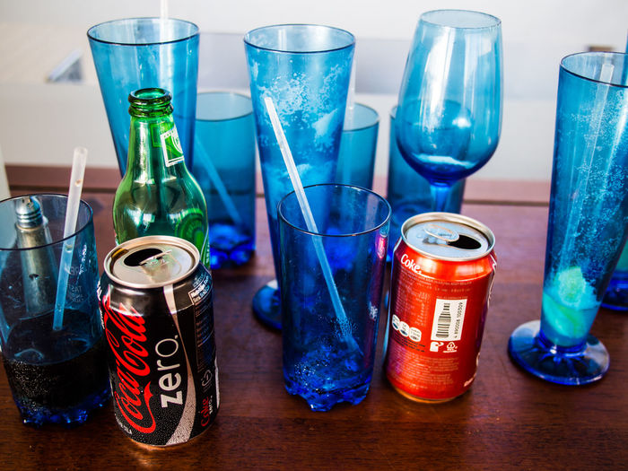 After drinks. Cans and glasses Bottle Cans Cans Of Drink Drinks Empty Glasses Glasses