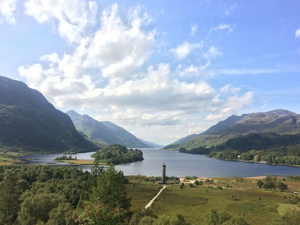 Views from Glenfinnan Viaduct, Scotland. Mountain Sky Nature Scenics Mountain Range Beauty In Nature Idyllic Landscape No People Outdoors Tranquility Water Grass Day