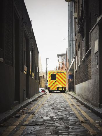 Building Exterior Built Structure Architecture Street Outdoors Day The Way Forward City No People Sky Ambulance Service Ambulance Postcode Postcards