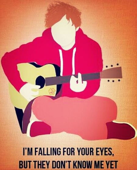 "I Love Him. Ed Sheeran <'3 Awsome Singer C; British, Ginger, Lovable. ""I'm Fallen For Your Eyes But They Dont Know Me Yet."""