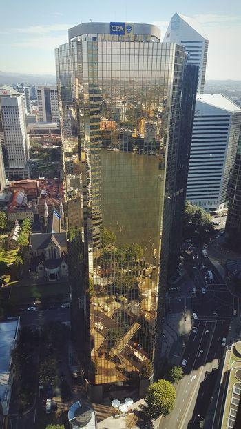 River view Brisbane Skyscraper Brisbane River Reflection Sunny Day