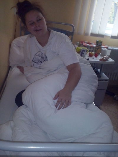 this is me friend in hospital :-(