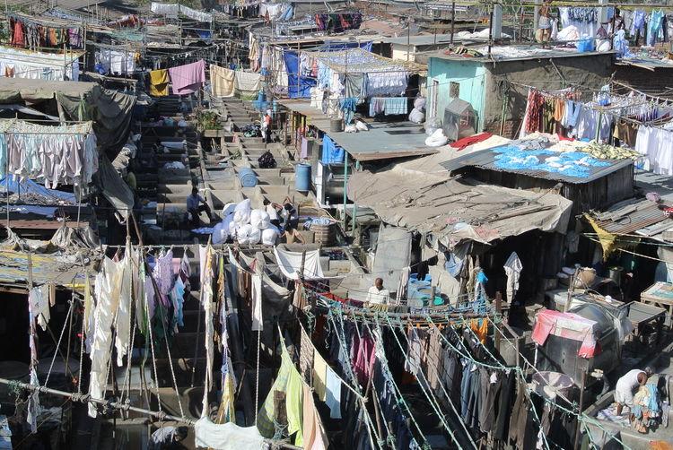 Dhobi GHAT India Mega-City Mumbai Slum Textile Industry Traveling In India Waschplatz