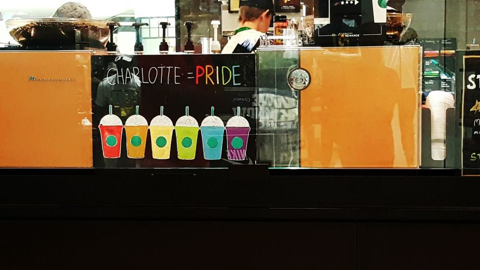 Charlotte Pride Charlotte Pride Gaypride Starbucks Rainbow Rainbowcups Equality Frappuccino Loverules Loverocks