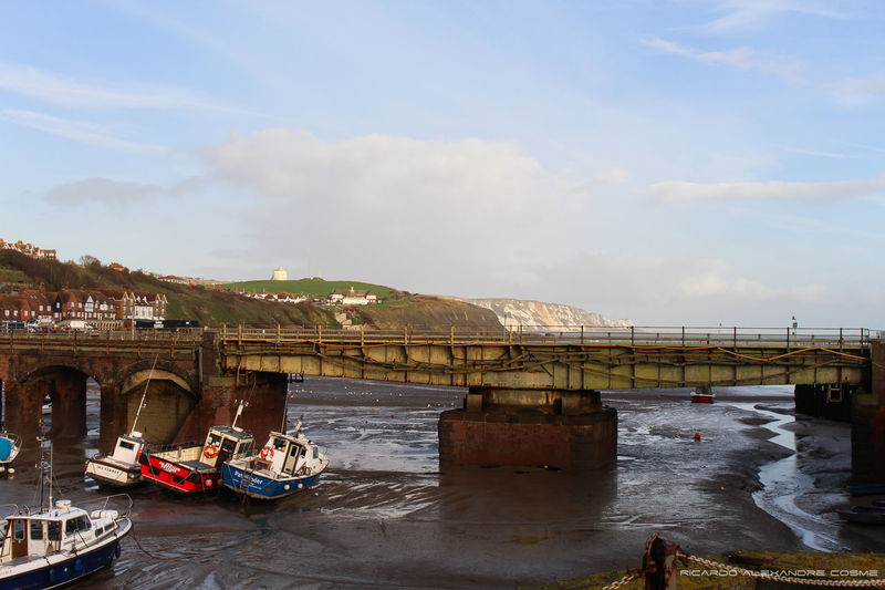 Drydock with view for the White Cliffs Cliff Cliffs Dock Drydock Folkestone No People Water White Cliffs Of Dover