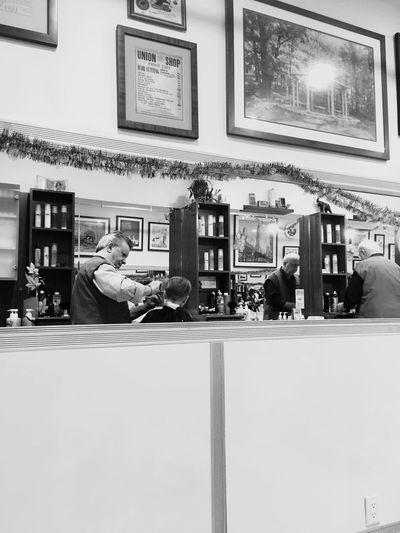 At the Barbershop Haircut