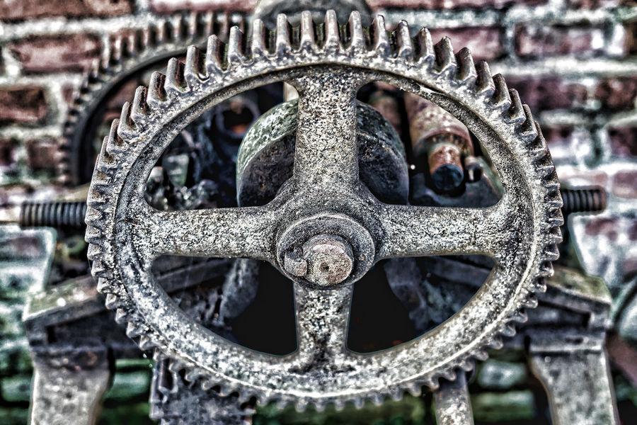 Industry Iron Metall Rost Zahnrad Eisen Rusty