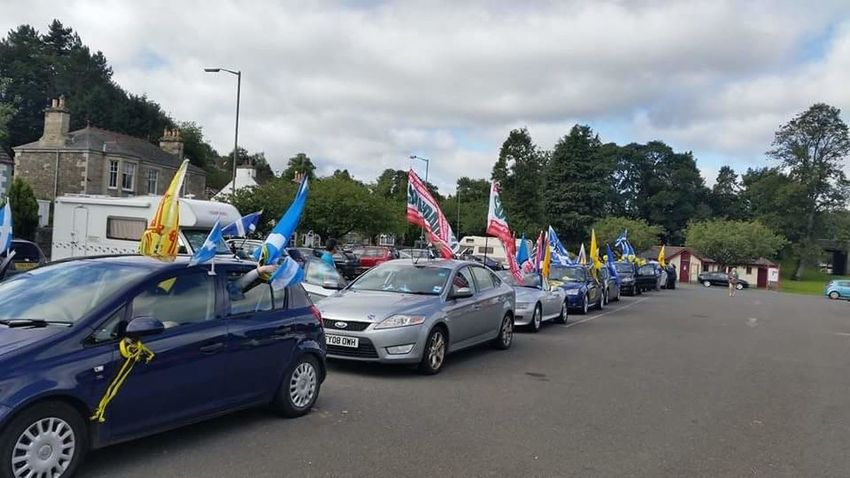 Yes Independence Scotland Rally Convoy