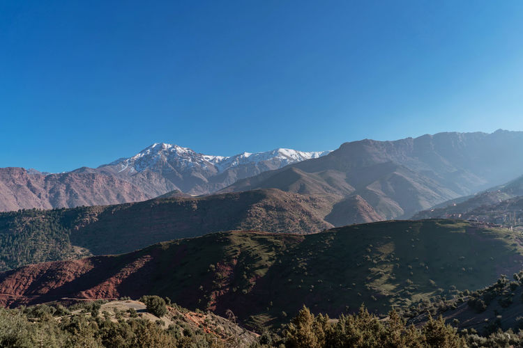Atlas Mountains Atlas Mountain Marrakech Marrakesh Morocco Travel Destinations Tourist Destination Mountain Range Mountain Mountain View Desert Landscape Desert Desert Beauty Red Mountain Africa Scenics - Nature Tranquil Scene Copy Space Nature Idyllic Physical Geography Non-urban Scene Landscape Tranquility Remote
