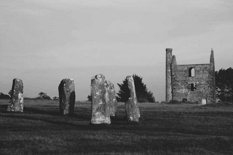 Bodmin moor Sky No People Outdoors Nature Day Beauty In Nature Cornwall Ladyphotographerofthemonth Moorland Rural Scene Landscape Black And White Monochrome Built Structure Mining Heritage Standing Stones