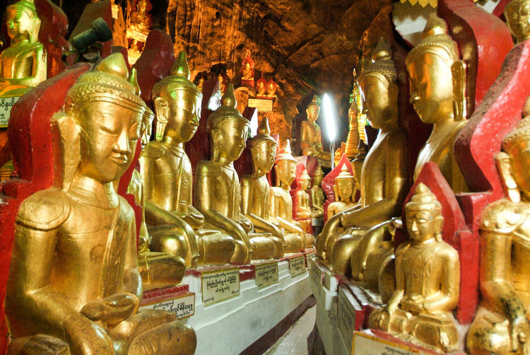 Buddha Golden Art And Craft Burma Day Gold Gold Colored Golden Color Human Representation Idol Indoors  Male Likeness Myanmar No People Place Of Worship Religion Sculpture Spirituality Statue Staue  Travel Destinations