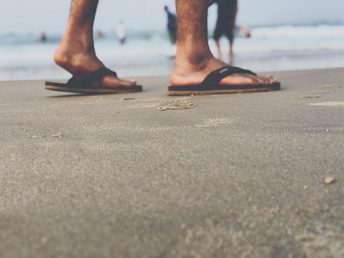 Better slip with foot than tongue 😜😝 Goa Goadiaries Fun Backtogoa Love ♥ Lotsoffun Beach Sand Human Leg Low Section Human Body Part Sea Limb Vacations Walking Day