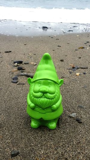 Feel the sand between your toes Gnome Gnomesaremysterious Gnomes Of EyeEm Gnomeonthebeach Targetsellsgnomes Green Gnome Heisawesome Ryebeach First Eyeem Photo