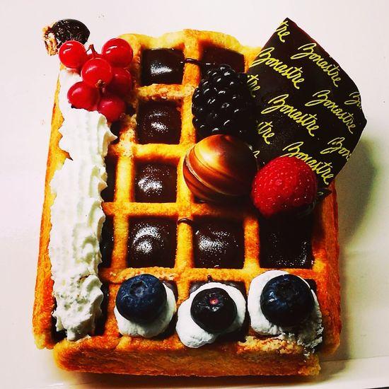 Waffle Gofre Cream Indoors  No People Studio Shot Close-up Food Sweet Food Day