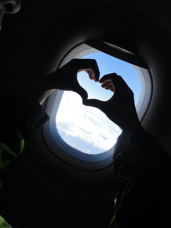 Air Plane From The Plane Window Heart