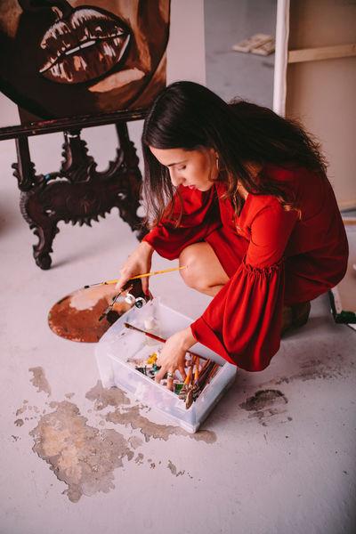 Artist Paint Woman Brush Hobby Painting