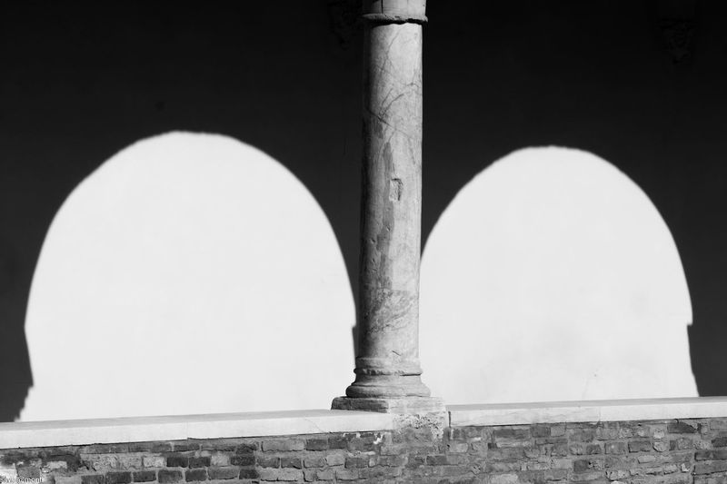 Shadow EyeEm Selects Architecture Built Structure No People Building Exterior Clear Sky White Color Day Outdoors Sunlight Architectural Column Religion Shape Old