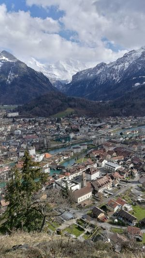 cityscapes Interlaken Bernese Oberland Switzerland Schibeflue Eye4photography  EyeEm Selects Tree Mountain Snow Cold Temperature Snowcapped Mountain Winter Town Mountain Peak Sky Landscape TOWNSCAPE Cityscape