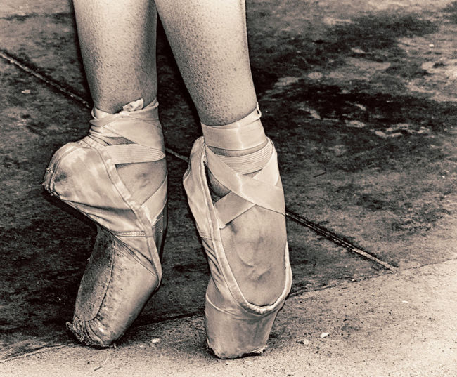 Black Close-up Human Leg Monochrome One Person Outdoors Pointe Shoes Shoe