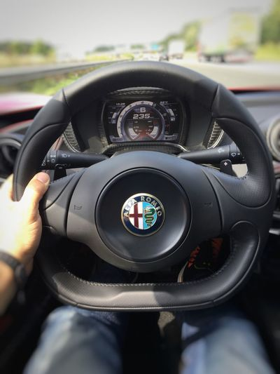 Of course captured another #SteeringWheel in action, while having fun with the Alfa Romeo C4 yesterday. ;-) Alfa Romeo C4 Steeringwheel AutobahnA3
