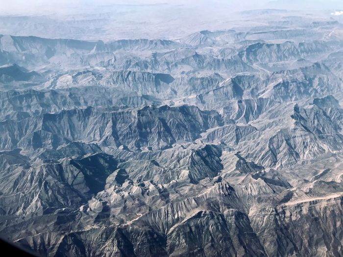 Aerial view of dramatic landscape