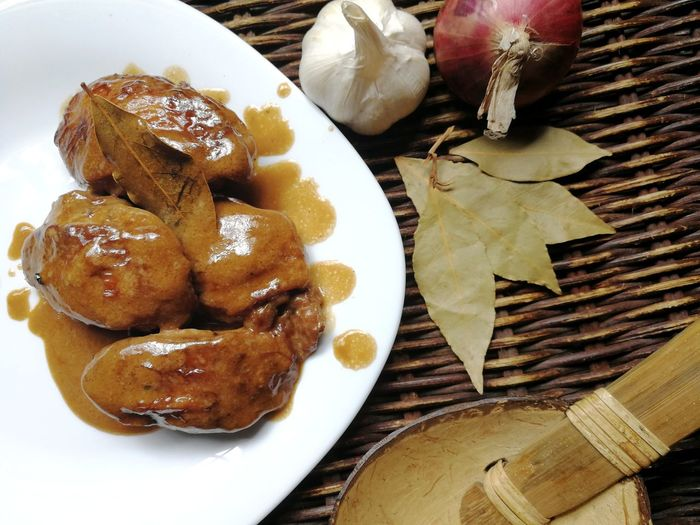 Chicken Adobo 03 | Food And Drink Food Plate No People Wood - Material Indoors  Freshness Healthy Eating Ready-to-eat Close-up Filipino Food Adobo Chicken Recipe Chicken Dish Chicken Adobo Sweet Food Philippines Food And Drink
